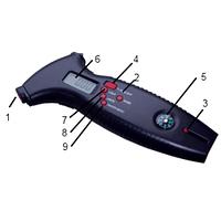 Цифровой измеритель давления в шинах