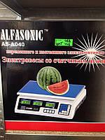 Весы Торговые ALFASONIC AC-40 до 40 кг