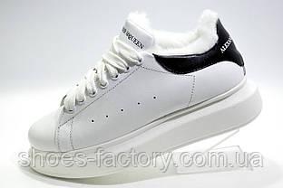 Зимние кроссовки в стиле Alexander McQueen, White\Black
