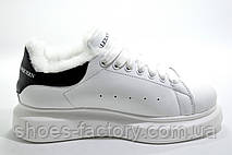 Зимние кроссовки в стиле Alexander McQueen, White\Black, фото 2