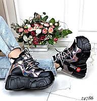 Зимние ботинки на толстой подошве ., фото 1