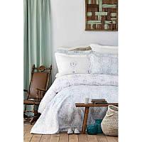Набор постельное белье с покрывалом Karaca Home - Quatre delux tiffany 2019-2 бирюзовый евро