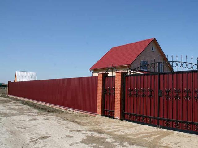 стальной матовый профнастил для крыши