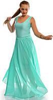 Длинная шифоновая юбка в мелкий горох 03096, фото 1
