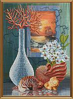 Набор для вышивания бисером и нитками Морской натюрморт