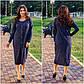 """Стильне жіноче плаття в батальних розмірах 1155 """"Ангора Міді Гудзики"""" в кольорах, фото 5"""