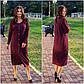 """Стильне жіноче плаття в батальних розмірах 1155 """"Ангора Міді Гудзики"""" в кольорах, фото 4"""