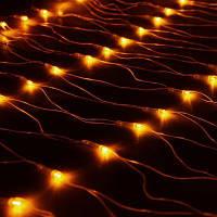 Гирлянда Сетка светодиодная  1,5х1,2 м, цвет: теплый белый 120 LED, фото 1