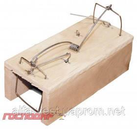 Господар  Мышеловка - домик 55*55*125 мм деревянная, Арт.: 92-0309