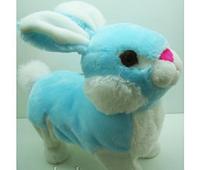 Мягкая механическая игрушка ходящий заяц