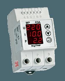 Реле многофункциональное DigiTOP МР-63А | цифровое на DIN рейку