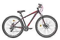 """Горный велосипед Ardis """"Brave"""" 29"""" алюминиевый с дисковыми тормозами, Черно-красный"""