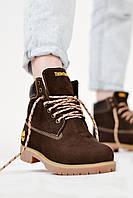 Ботинки женские Timberland Brown tig Тимберленд