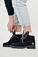 Ботинки женские Timberland Black tig Тимберленд