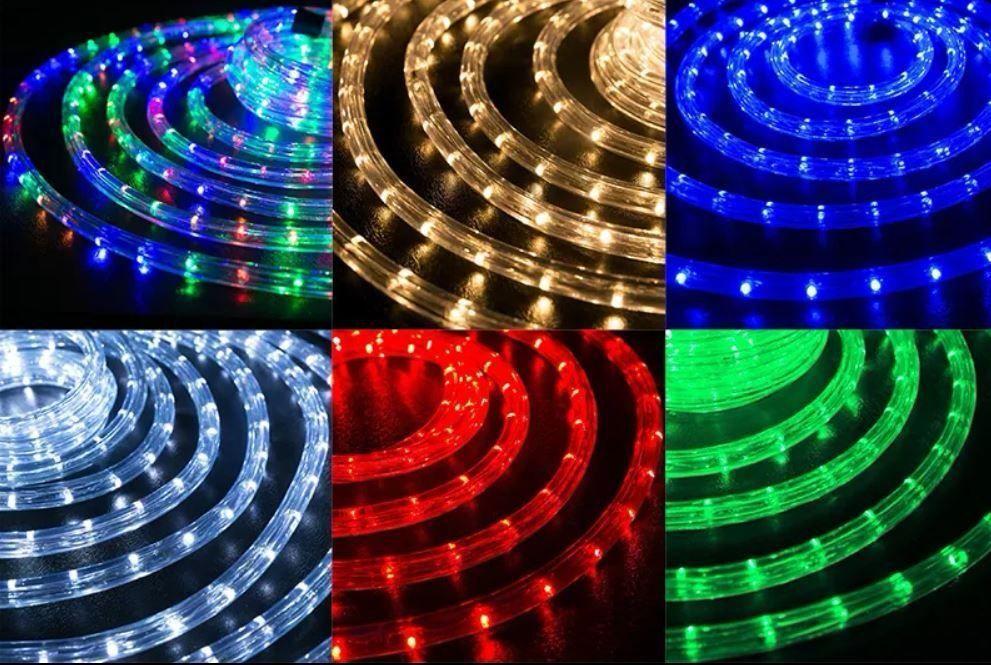 Гирлянда дюралайт 9 метров уличная (белая, синяя, мульти, красная, зеленая)