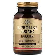 "L-пролин, SOLGAR ""L-Proline"" 500 мг (100 капсул)"