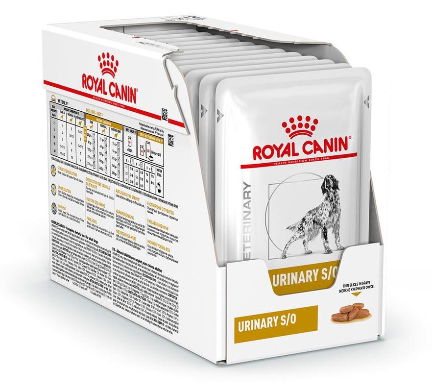 Влажный корм для собак с мочекаменной болезнью Royal Canin Urinary S/O Canine блок 100 г*12 шт.