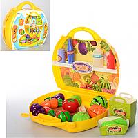 ПРОДУКТЫ 8345 на липучке, овощи/фрукты 8 шт, нож, досточка, 39 предметов