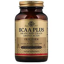 """Аминокислота BCAA, SOLGAR """"BCAA Plus"""" в свободной форме (100 капсул)"""