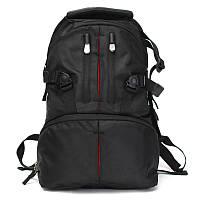 """Фото рюкзак универсальный + отдел 15,6""""+ дождевик, черный"""