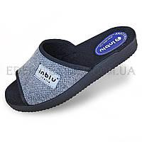 Мужские тапочки с открытым носком Inblu 28-1V, Серый, 43