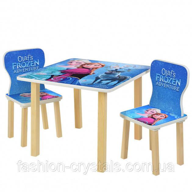 Детский комплект стол и 2 стула frozen 508