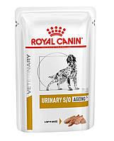 Влажный корм для собак старше 7 лет с мочекаменной болезнью Royal Canin Urinary S/O Ageing 7+ паштет 85 г