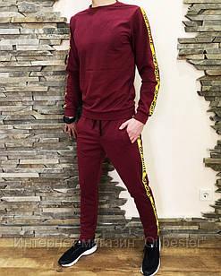 Спортивный костюм мужской бордовый