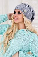 Женская зимняя вязаная шапка Ёла.
