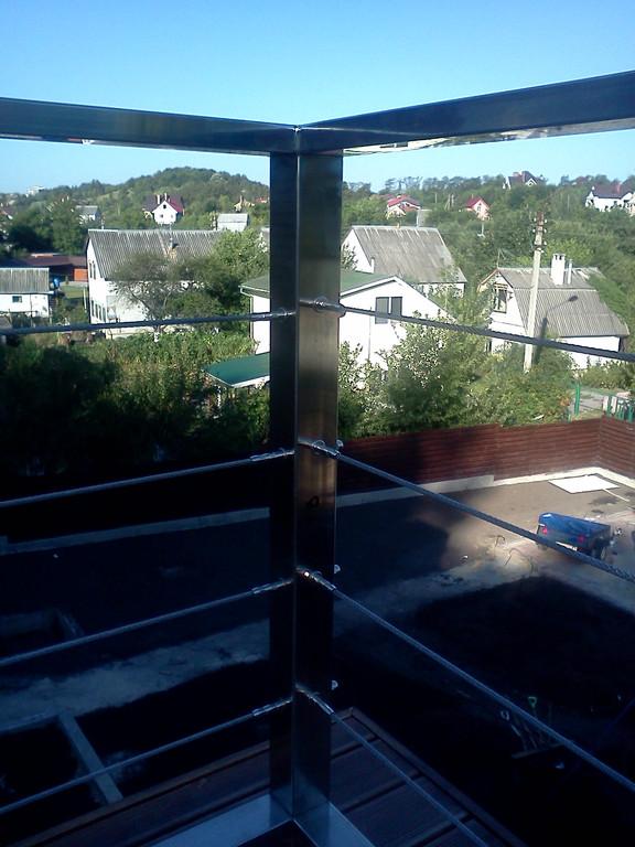 тросовое ограждение  терассы в частном доме. Обуховский район, Киевская область. август 2015 года 3
