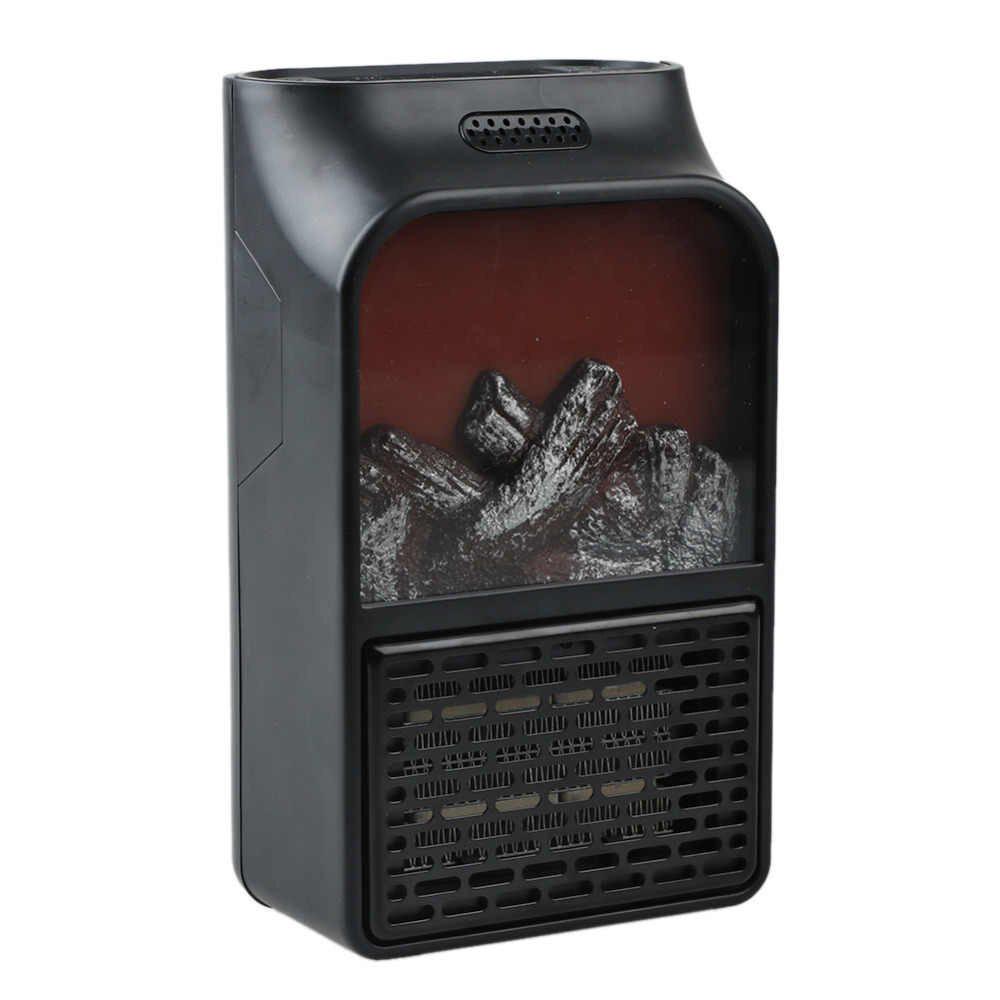 Портативный электрический настенный мини-нагреватель с визуальным пламенем и пультом управления (900 W) +