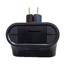 Портативный электрический настенный мини-нагреватель с визуальным пламенем и пультом управления (900 W) +, фото 2