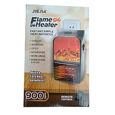 Портативный электрический настенный мини-нагреватель с визуальным пламенем и пультом управления (900 W) +, фото 3