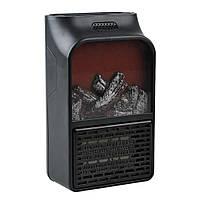Портативный электрический настенный мини-нагреватель с визуальным пламенем и пультом управления (500 W) + ПОДАРОК