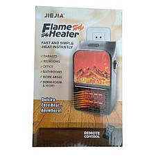 Портативный электрический настенный мини-нагреватель с визуальным пламенем и пультом управления (500 W) +, фото 3