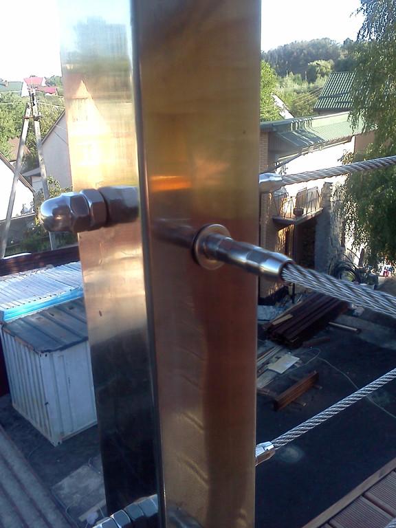 тросовое ограждение  терассы в частном доме. Обуховский район, Киевская область. август 2015 года 10