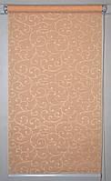Готовые рулонные шторы 325*1500 Ткань Акант 2170 Персиковый