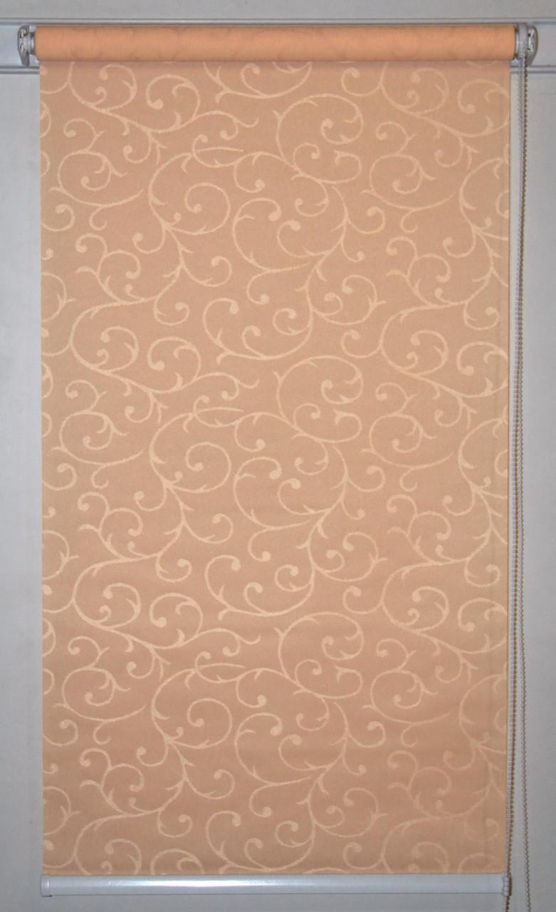 Рулонная штора 350*1500 Акант 2170 Персиковый