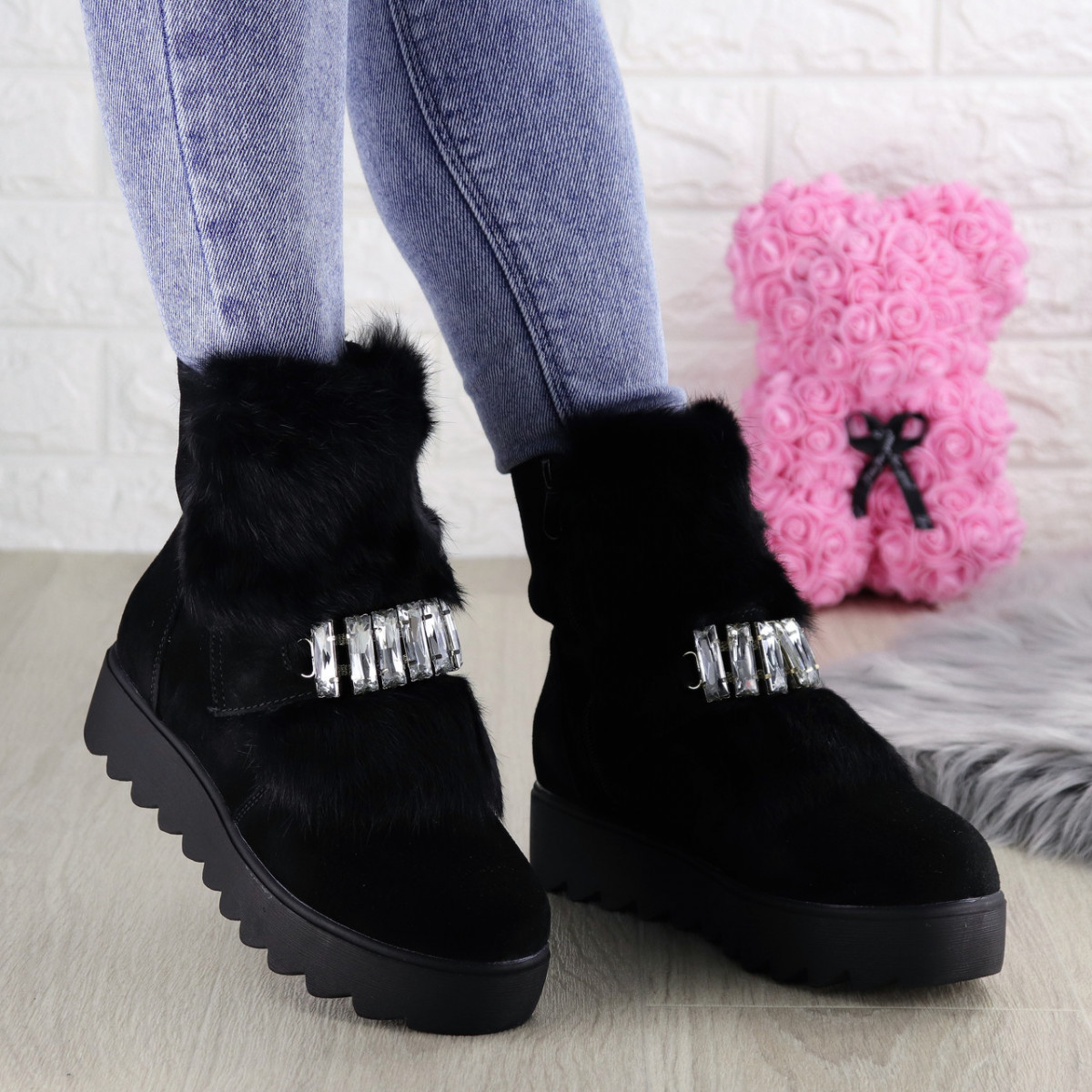 Женские зимние ботинки Indigo черные