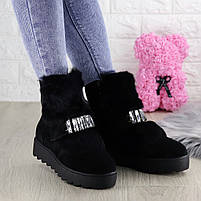 Женские зимние ботинки Indigo черные, фото 2
