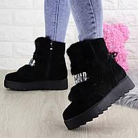 Женские зимние ботинки Indigo черные, фото 3