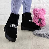 Женские зимние ботинки Indigo черные, фото 4