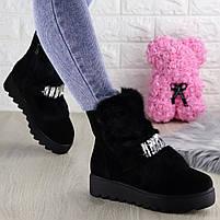 Женские зимние ботинки Indigo черные, фото 5