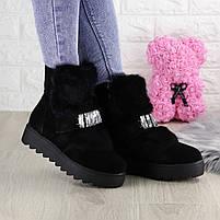 Женские зимние ботинки Indigo черные, фото 6