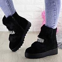 Женские зимние ботинки Indigo черные, фото 7