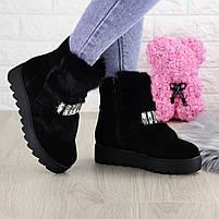 Женские зимние ботинки Indigo черные, фото 8