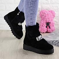 Женские зимние ботинки Indigo черные, фото 10