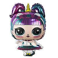 Шар фигура пленка Кукла Лол Единорог  / LOL (60 см)