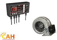 Контроллер TECH ST 22 и нагнетательный вентилятор, комплект автоматики для переоборудования котла