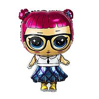Шар фигура пленка Кукла Лол школьница / LOL (60см)